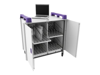 LapCabby 20-Bay Laptop Charging Trolley, Lime