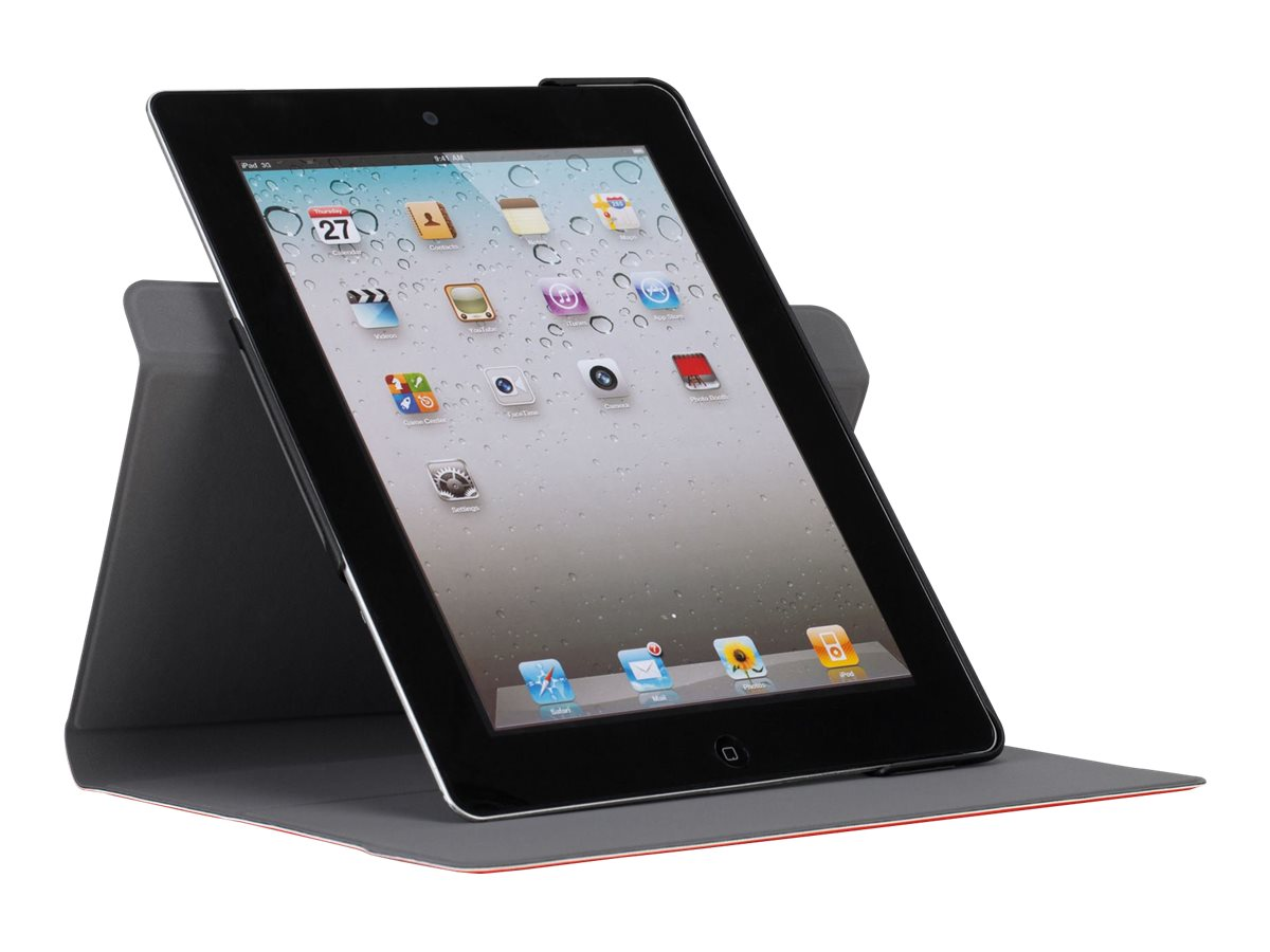 Targus CustomFit Rotate for iPad 3 4 9.7, Red, THZ54101US
