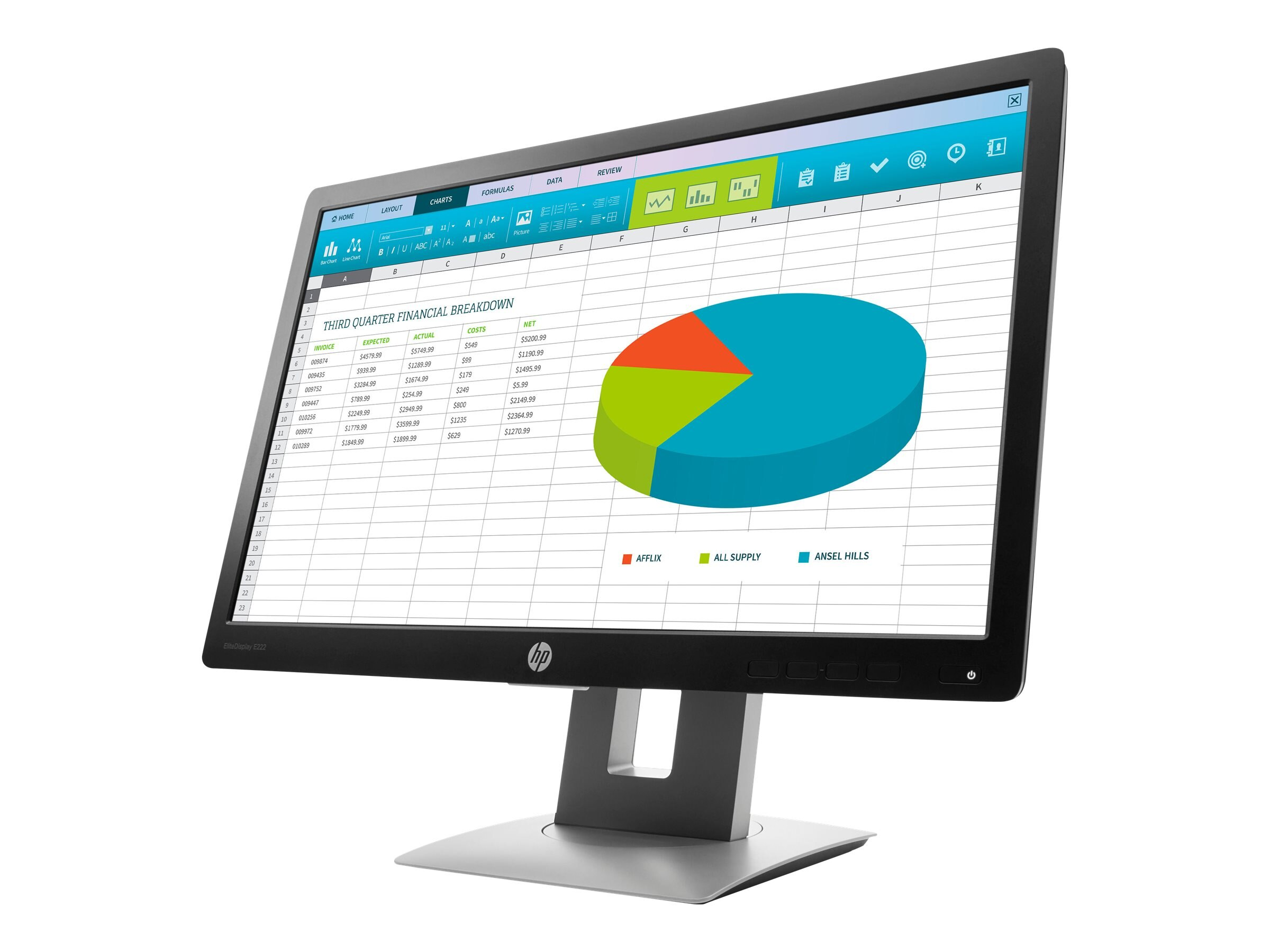 HP 21.5 E222 Full HD LED-LCD Monitor, Black, M1N96A8#ABA