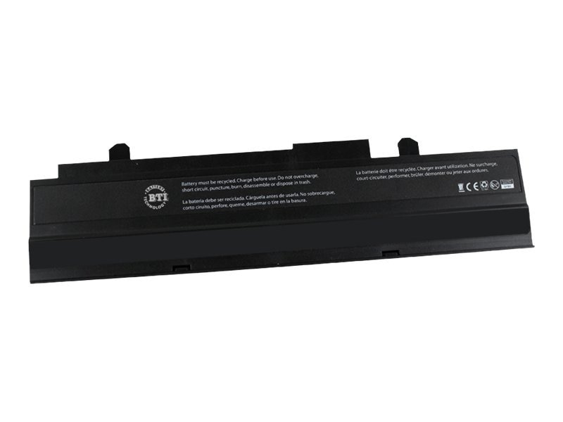 BTI Battery, Li-Ion 10.8V 4400mAh 6-cell for ASUS eee PC 1015 1016 1215, Black