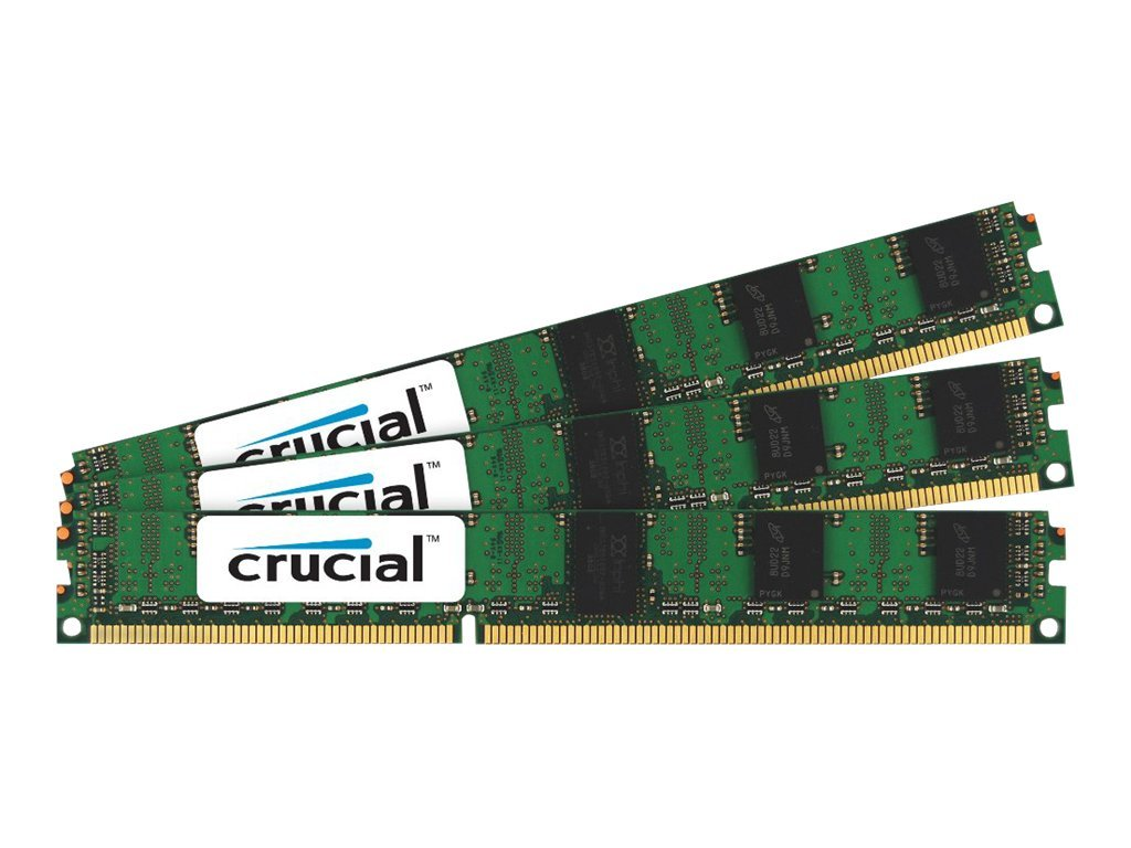 Crucial 12GB PC3-10600 240-pin DDR3 SDRAM DIMM Kit, CT3K4G3ERVLS41339, 15319663, Memory