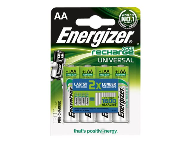 Energizer Universal Rechargeable AA (4-pack), UNH15BP-4, 14805854, Batteries - Other