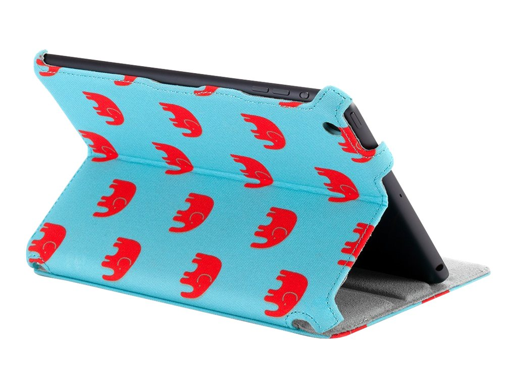 Griffin Habit Journal Tusk iPad mini, Turquoise Red White