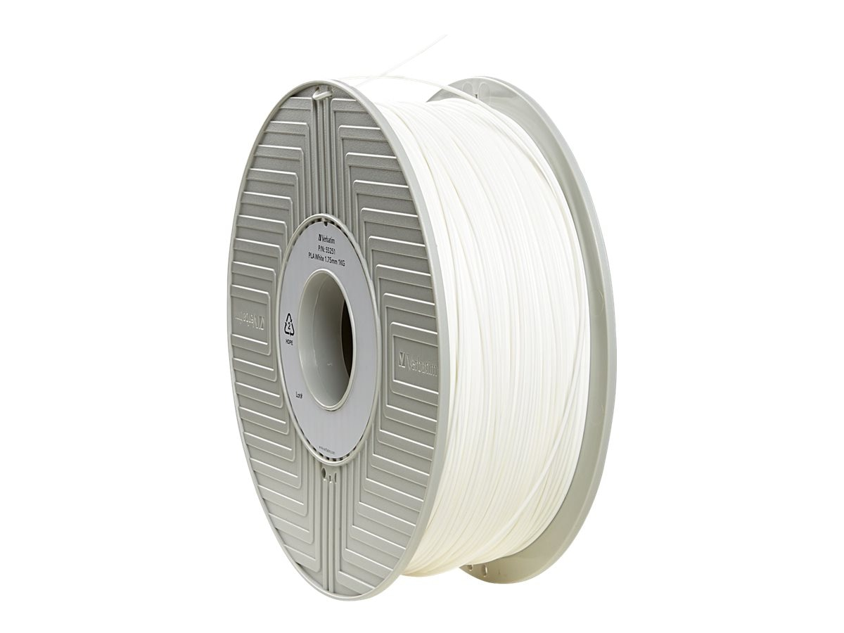 Verbatim White 1.75mm 1kg PLA 3D Filament, 55251
