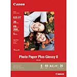 Canon 8.5 x 11 Photo Paper Plus Glossy II (20 Sheets), 2311B001, 8810041, Paper, Labels & Other Print Media