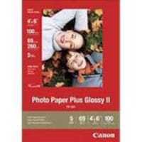 Canon 4 x 6 Photo Paper Plus Glossy II (100 Sheets), 2311B023, 8810171, Paper, Labels & Other Print Media