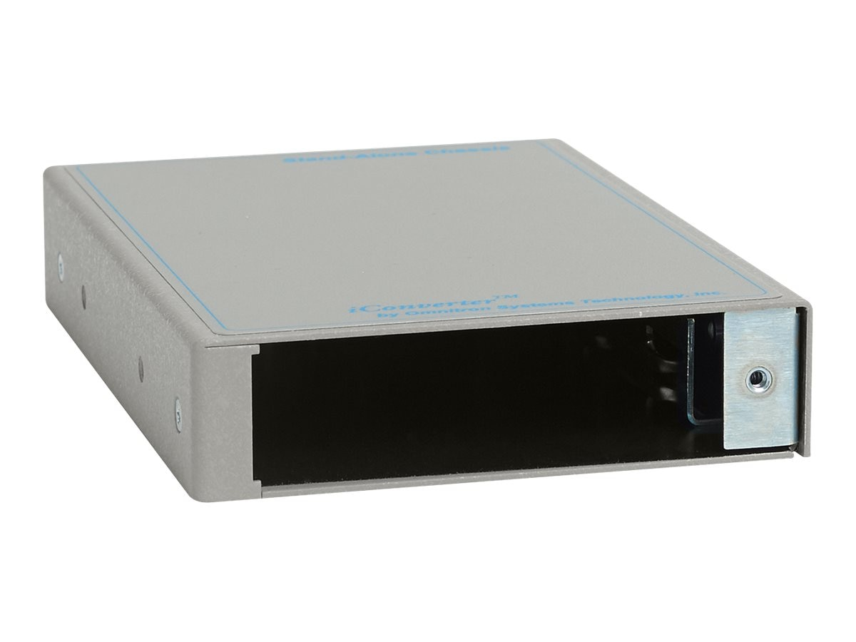 Omnitron iConverter 1-Module Chassis with AC Adapter 8.3W, 8242-1, 13442035, Network Transceivers