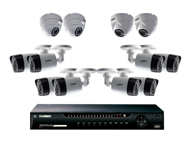 Lorex 16-Channel DVR 2TB System with 4x 1080p Dome Cameras, LHV162C8D4B, 24287229, Video Capture Hardware