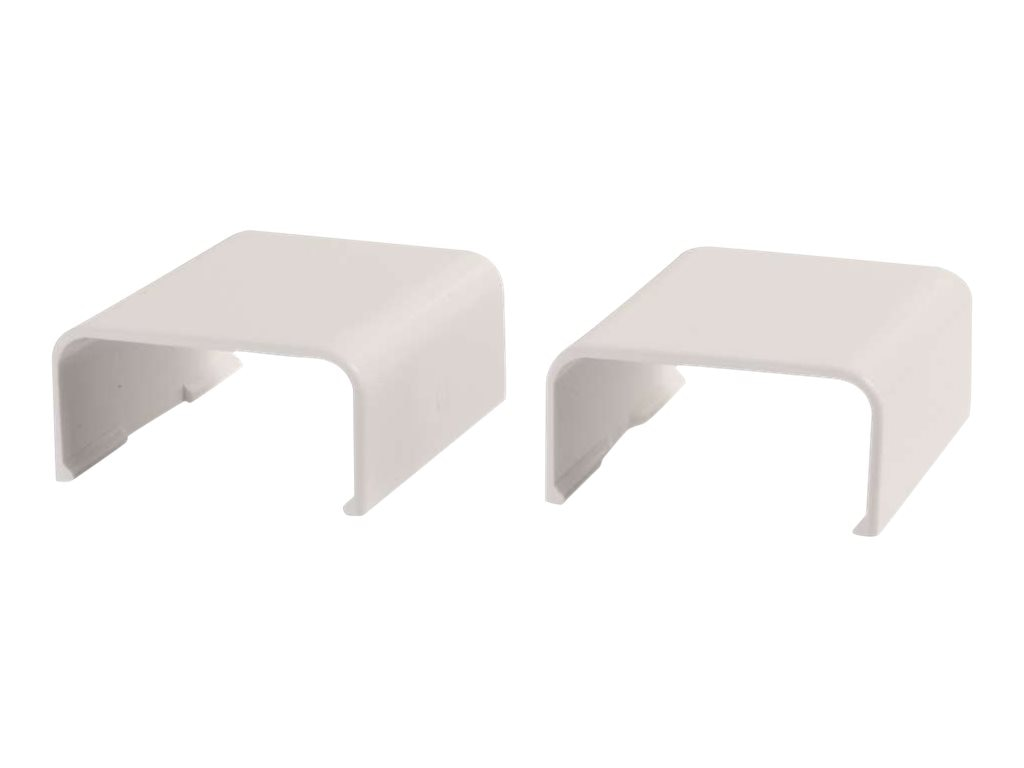 C2G Wiremold Uniduct 2900 Cover Clip, Fog White, 2-Pack