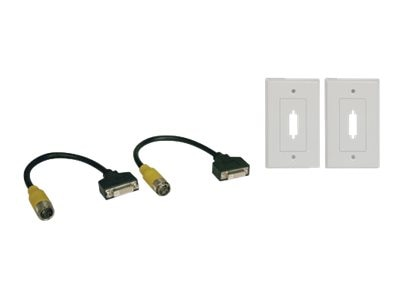 Tripp Lite Easy Pull Type-B Connectors, F F DVI-Single-Link with Faceplates, EZB-DVIF-2