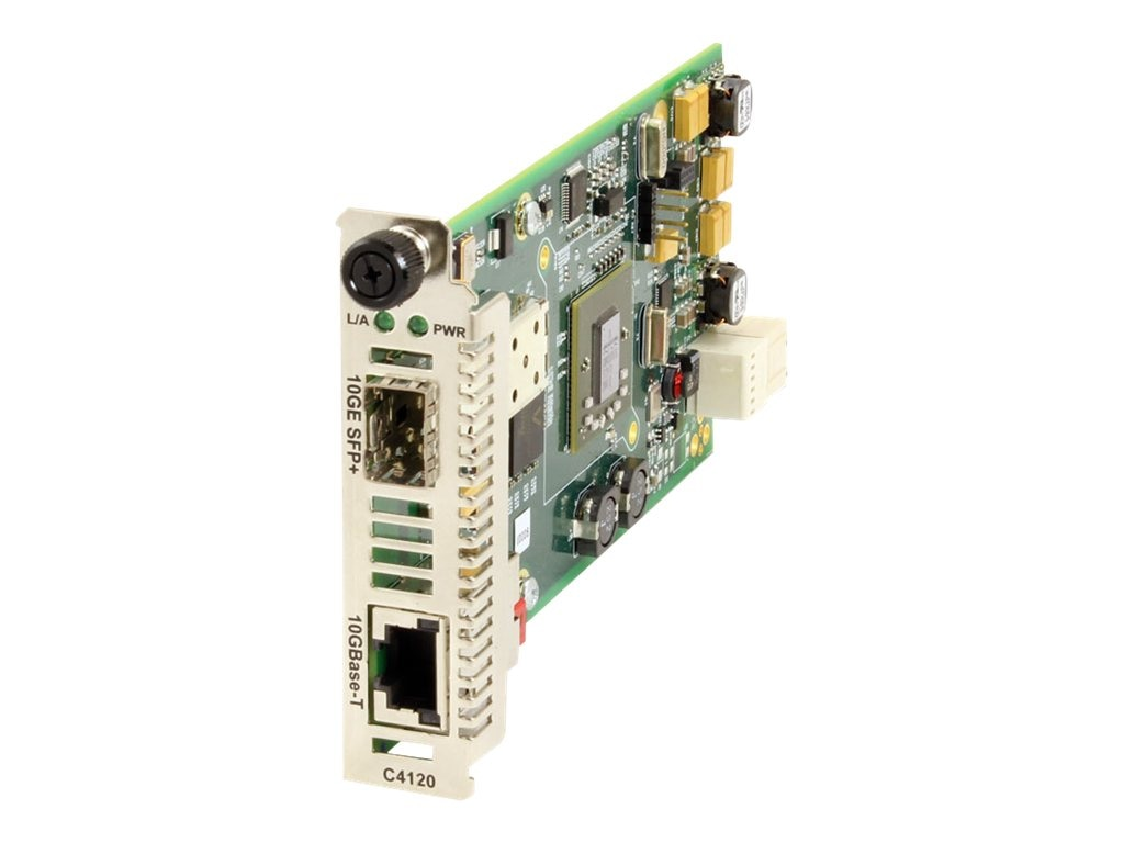 Transition 10GBase-T Copper to Fiber Media Converter