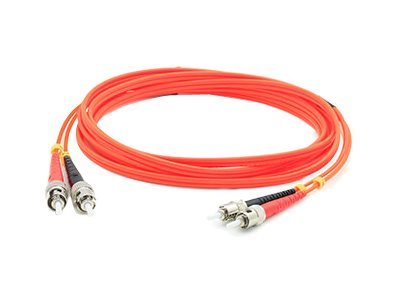 ACP-EP ST-ST 62.5 125 OM1 Multimode LSZH Duplex Fiber Cable, Orange, 20m, ADD-ST-ST-20M6MMF