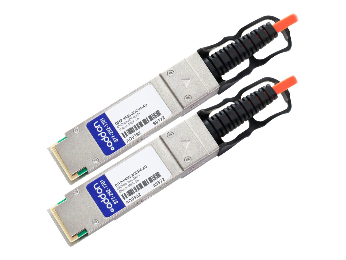 ACP-EP 40G QSFP+ to QSFP+ Direct-Attach Active Optical Cable, 3m, QSFP-H40G-AOC3M-AO