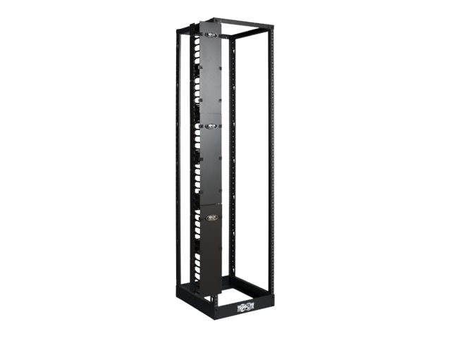 Tripp Lite High Capacity Vertical Cable Manager, Double Finger Duct, Cover, Toolless Mounting, 6W, SRCABLEVRT6, 12948536, Rack Cable Management
