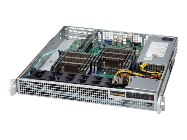 Supermicro Chassis, SuperChassis 514-441 1U RM (2x)Intel AMD Family 2x2.5 Bays 2xSlots 440W, CSE-514-441