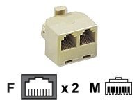 C2G RJ-45 Modular T-Adapter, 01938, 8129108, Premise Wiring Equipment