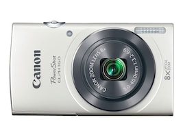 Canon PowerShot ELPH 160 Camera, 20MP, 8x Zoom, White, 0140C001, 18524401, Cameras - Digital - Point & Shoot