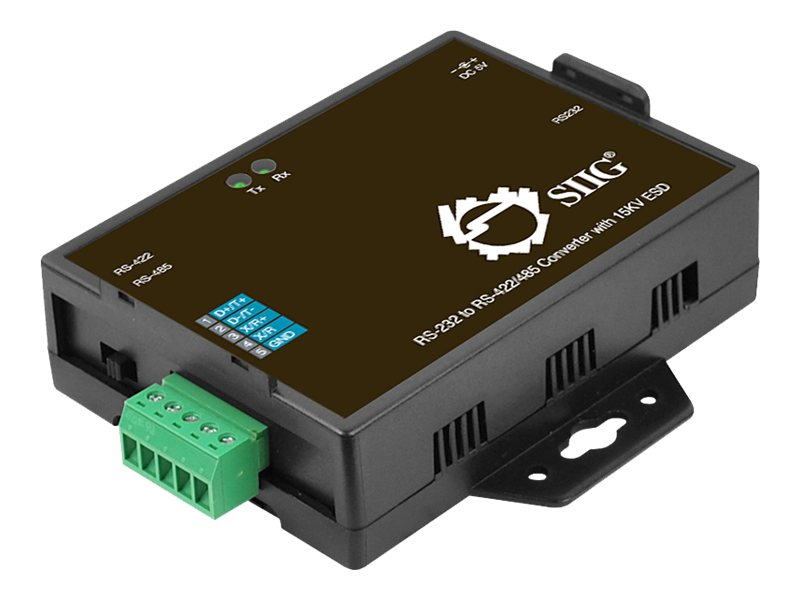 Siig RS-232 to RS-422 485 Converter w  15kV ESD, ID-SC0T11-S1