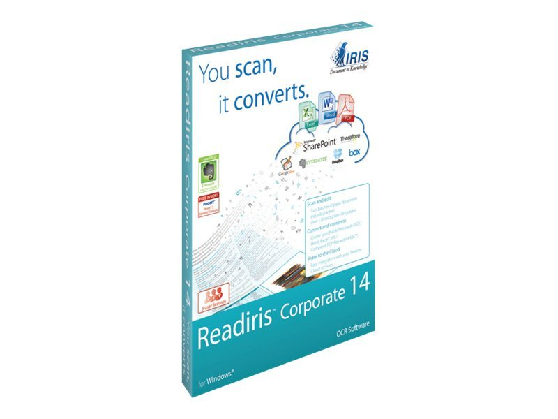 IRIS ReadIris 14.0 Corporate Edition for Win 3-user DVD, 457476, 14415080, Software - OCR & Scanner