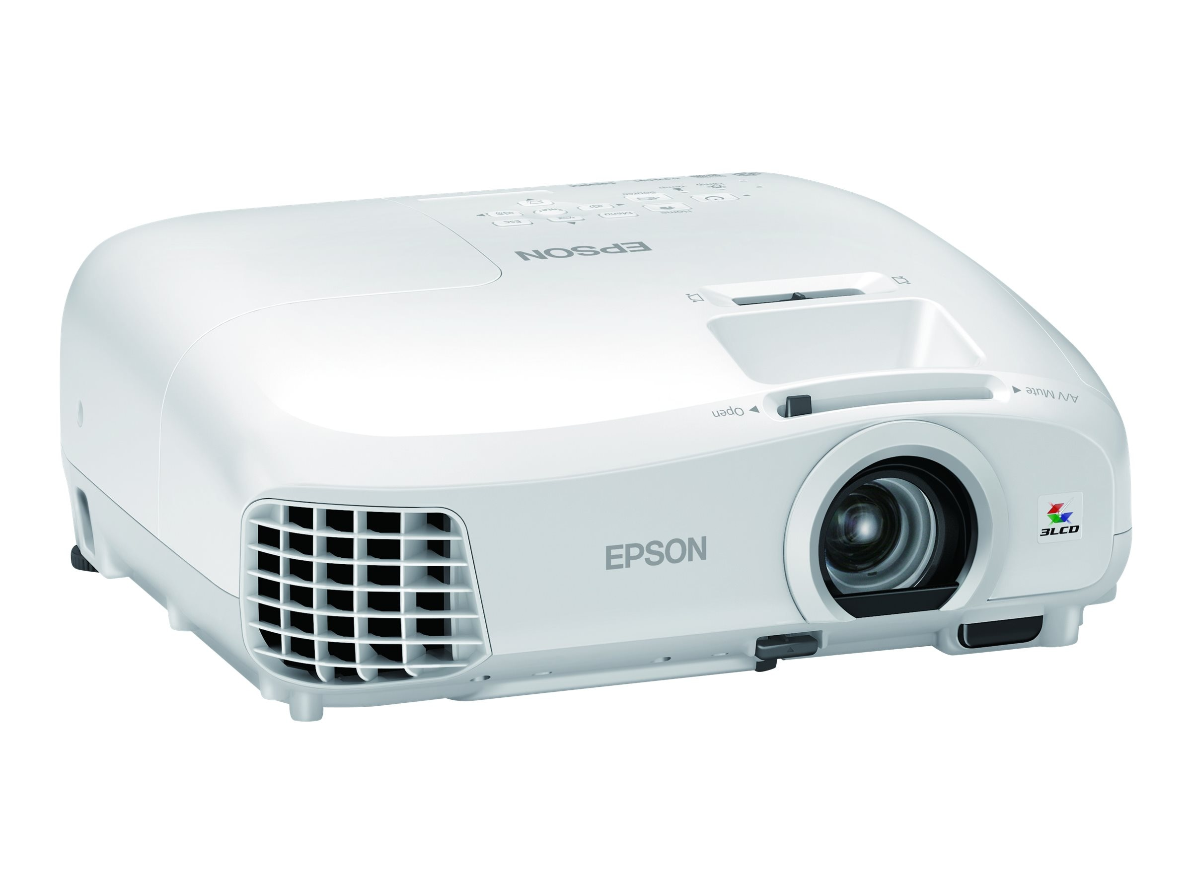 Epson PowerLite Home Cinema 2040 3D 1080p 3LCD Projector, 2200 Lumens, White, V11H707020