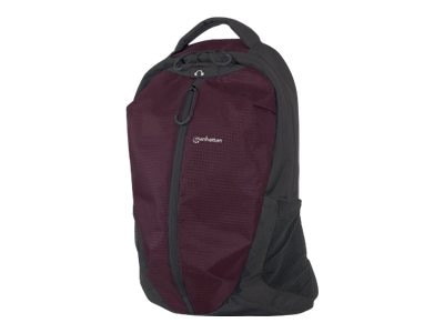 Manhattan Airpack Lightweight Top Load Backpack, Plum Black, 439701, 16818780, Carrying Cases - Notebook