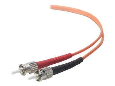 Belkin Fiber Patch Cable, ST-ST, 62.5 125, Multimode, Duplex, TAA Compliant, 10m, STST625-10M-TAA, 12541322, Cables