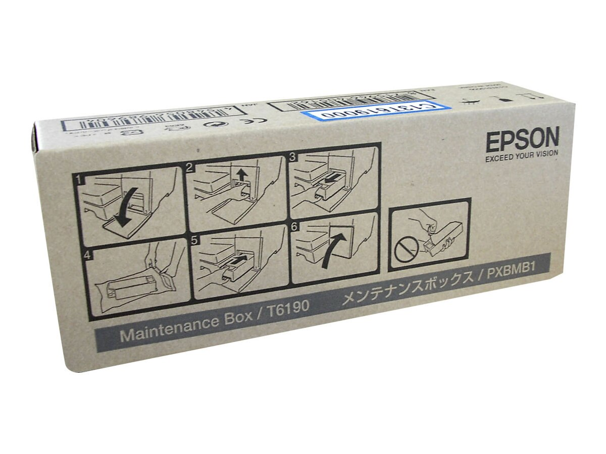Epson Maintenance Box for B-300 & B-500DN Business Color Ink Jet Printer, T619000, 11136106, Printer Accessories