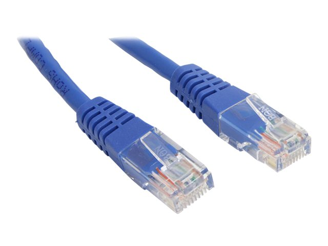 StarTech.com Cat5e Patch Cable, Molded, Blue, 10ft