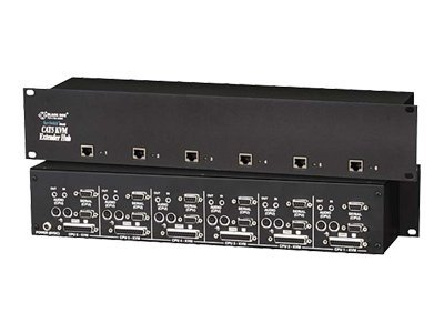 Black Box RM ServSwitch Cat5 KVM Extender Hub, 6-Port Dual-Access w  Bidirectional Serial & Stereo Audio