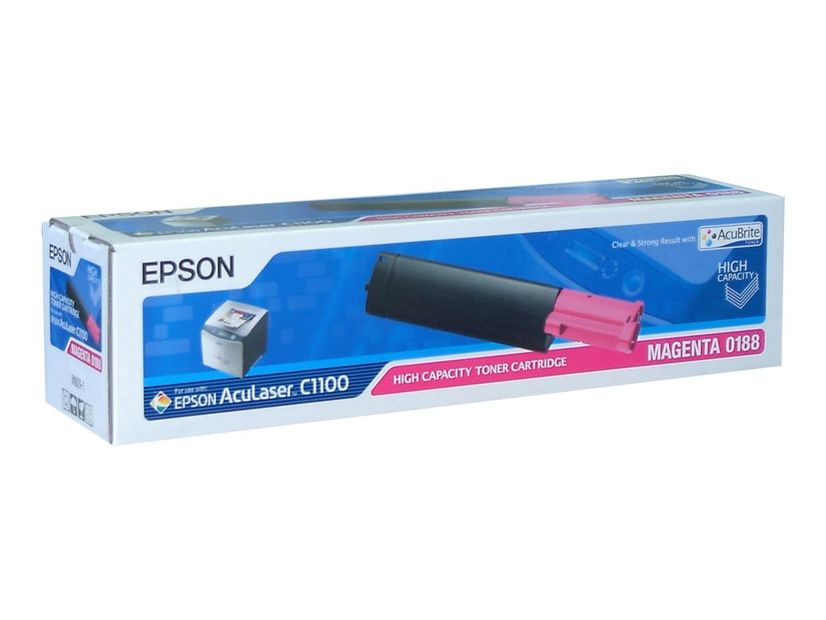 Epson Magenta High Capacity Toner Cartridge for AcuLaser CX11N & CX11NF Printers, S050188
