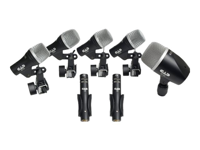 CAD Microphones 7-Piece Drum Mic Kit 3 Tom 1 Snare & 1 Kick 2 Overhead Mics, STAGE7, 17038355, Microphones & Accessories