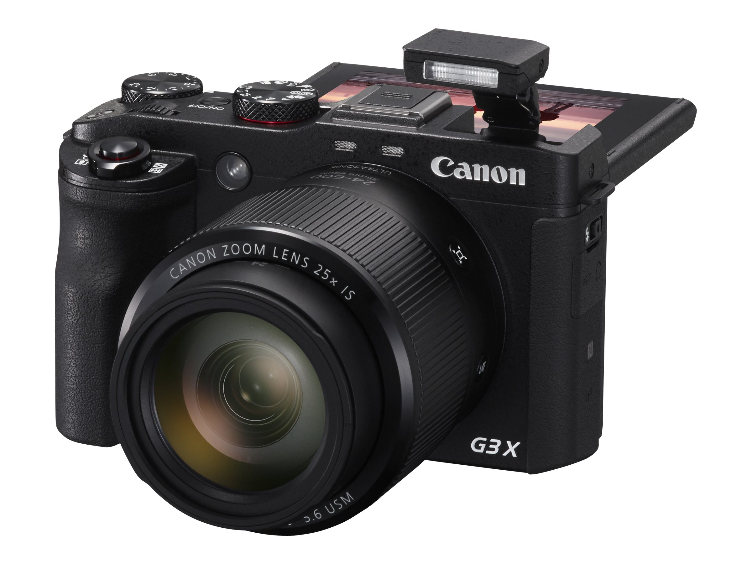 Canon PowerShot G3 X Camera, 20.2MP, 25x Zoom, Black