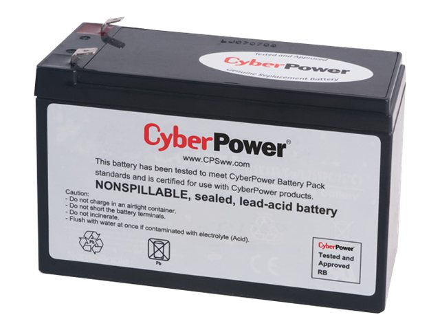 CyberPower UPS Replacement Battery Cartridge 12V 8Ah Battery, RB1280, 14775034, Batteries - Other