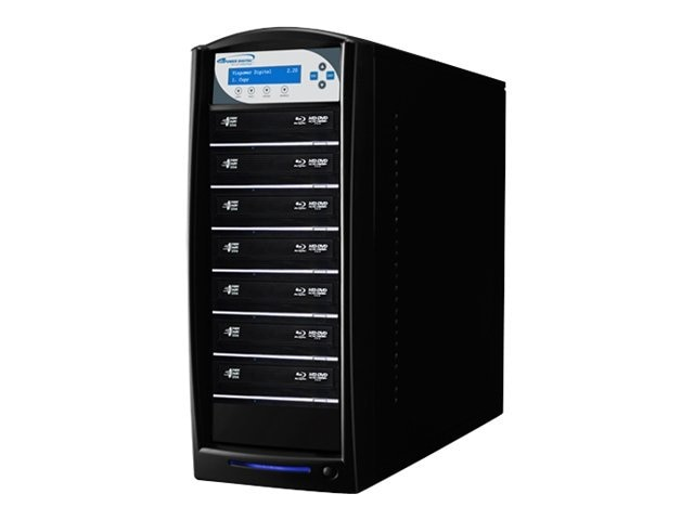 Vinpower SharkBlu Blu-ray XL DVD CD USB 1:7 Tower Duplicator w  Hard Drive, SHARKBLU-S7T-XL-BK, 15129501, Disc Duplicators