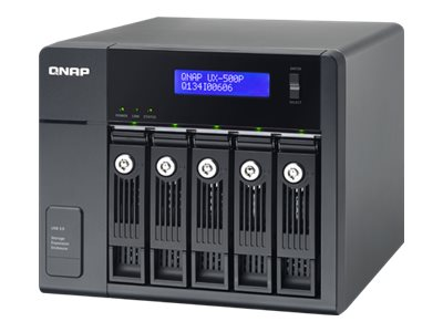 Qnap UX-500P 5-Bay SATA 3.5 USB 3.0 RAID Enclosure, UX-500P, 17730472, Hard Drive Enclosures - Multiple