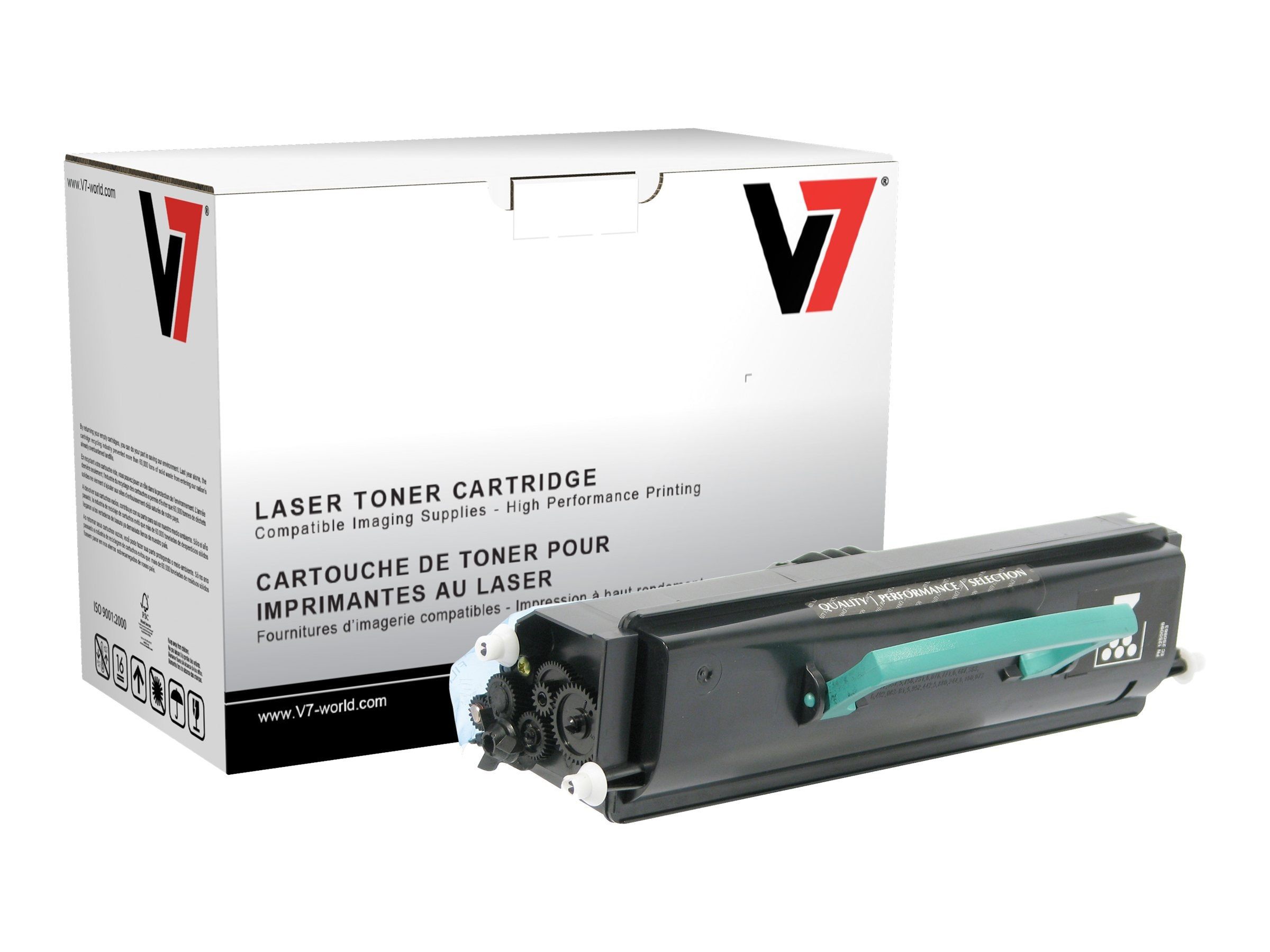 V7 330-8573 Black Toner Cartridge for Dell 3333DN (TAA Compliant), TDK23333, 13714900, Toner and Imaging Components