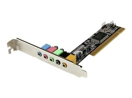 StarTech.com 5.1 Channel PCI Surround Sound Card Adapter, PCISOUND5CH2, 17074081, Sound Cards