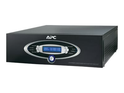 APC AV J-Type 1kVA Power Conditioner with Battery Backup 120V, Black, J10BLK, 7058125, Line Conditioners