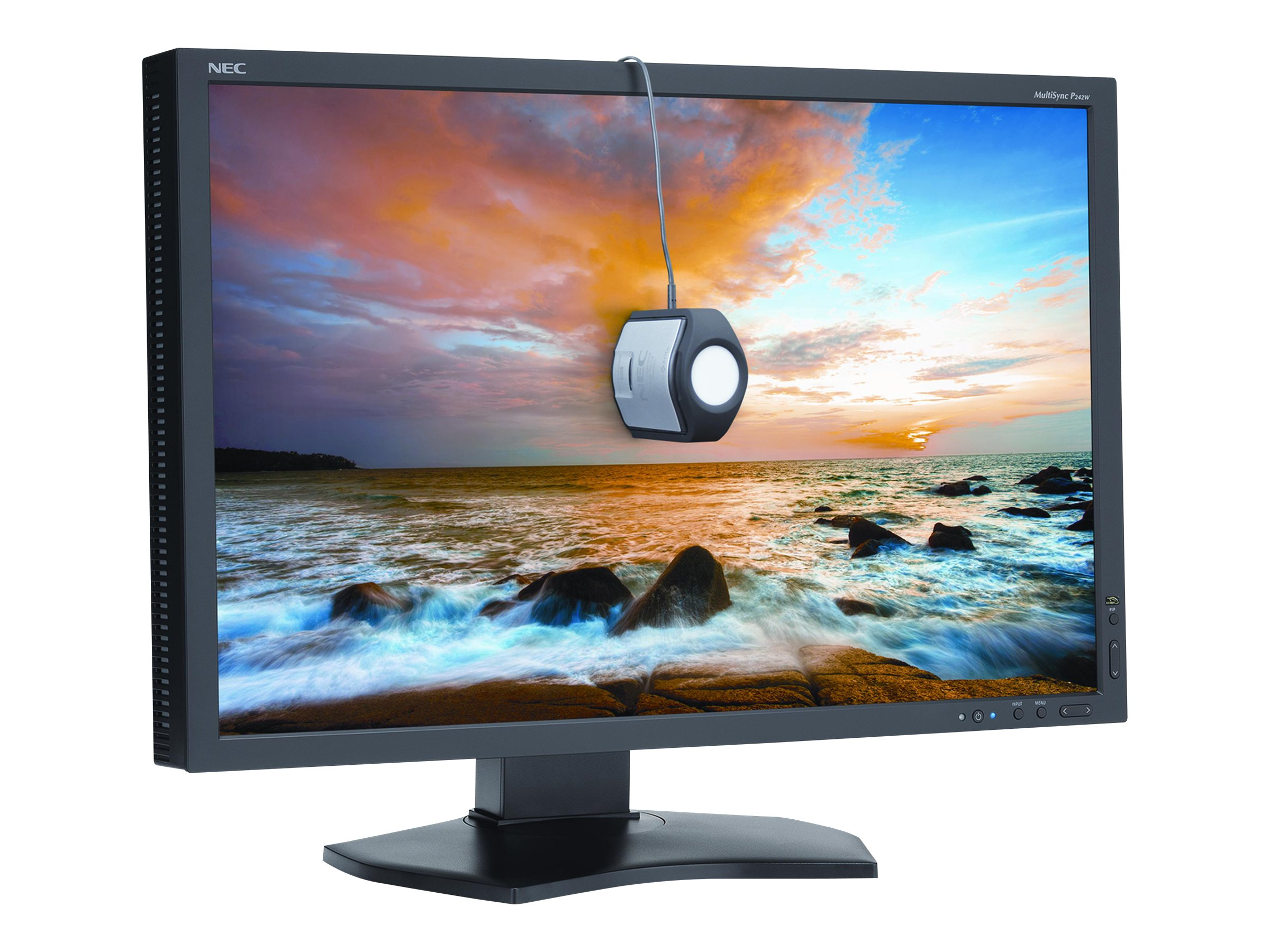 NEC 24.1 PA242W-BK LED-LCD Monitor with SpectraViewII, PA242W-BK-SV