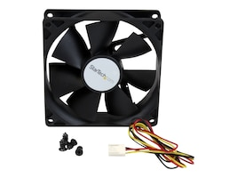 StarTech.com CPU Case Cooling Fan Motor, Hi-Flow, 9x2.5cm with TX3 Connectors, FAN9X25TX3H, 242795, Cooling Systems/Fans