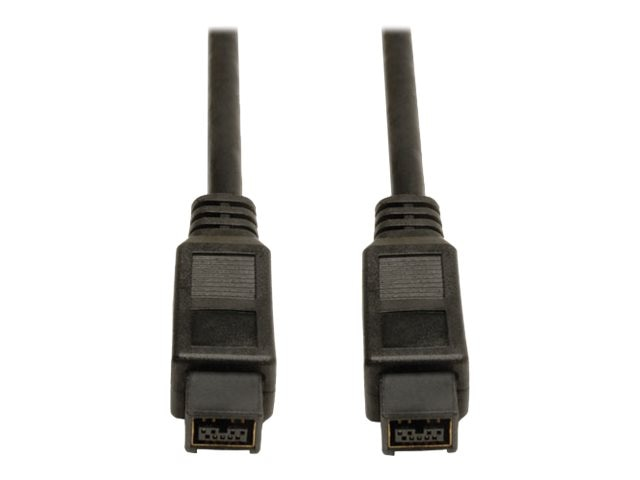 Tripp Lite 9-pin to 9-pin IEEE 1394b Firewire 800 Gold Cable, 6ft, F015-006, 5948087, Cables