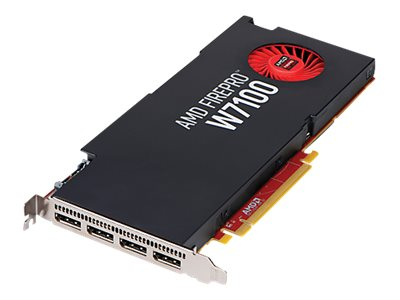 HP AMD FirePro W7100 PCIe 3.0 x16 Graphics Card, 8GB GDDR5