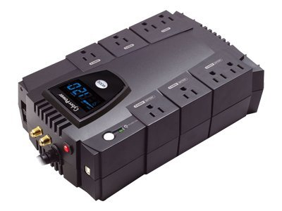 CyberPower 825VA 450W Intelligent LCD GreenPower UPS AVR (8) Outlets, CP825AVRLCD, 8875194, Battery Backup/UPS