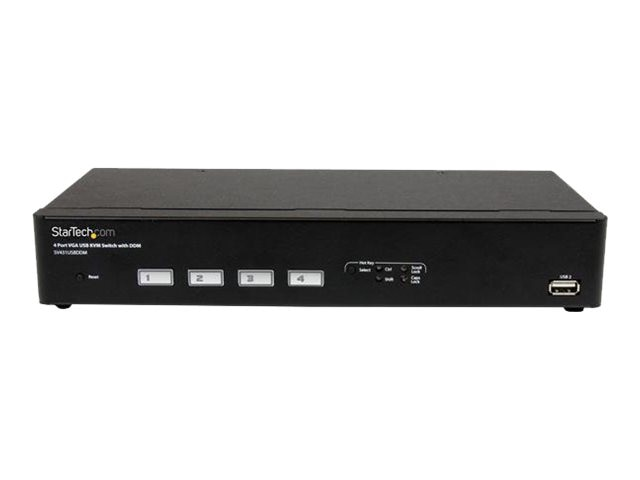 StarTech.com 4-Port USB VGA KVM Switch w  DDM Fast Switching Technology, Cables, SV431USBDDM
