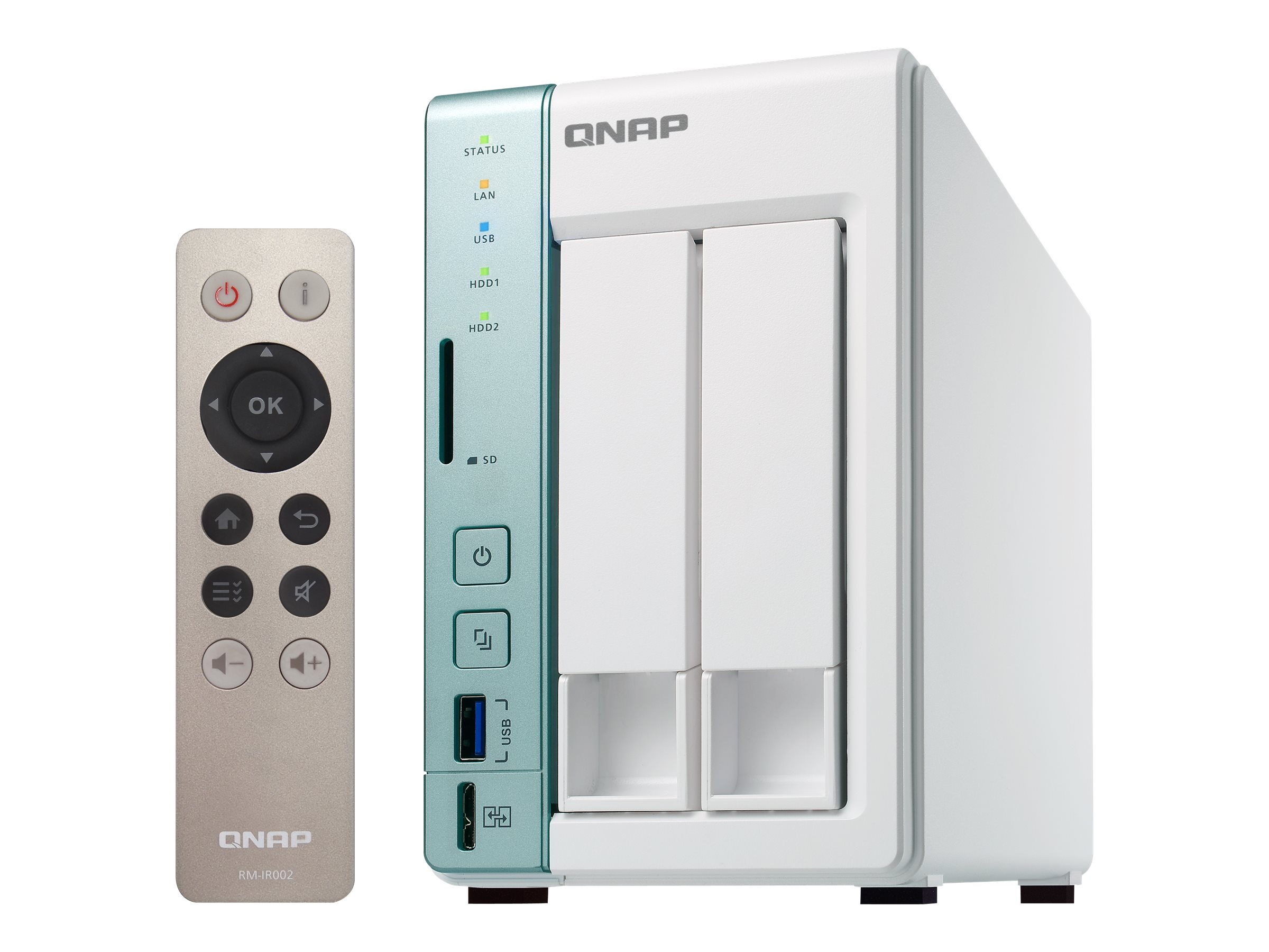 Qnap 2-Bay TS-251A Personal Cloud NAS DAS w  USB Direct Access, TS-251A-4G-US