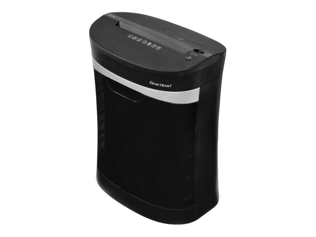 Gear Head 12-Sheet C C Shredder w  Disc Slot - Black w  Silver Accents, PS1200CXB, 31174353, Paper Shredders & Trimmers