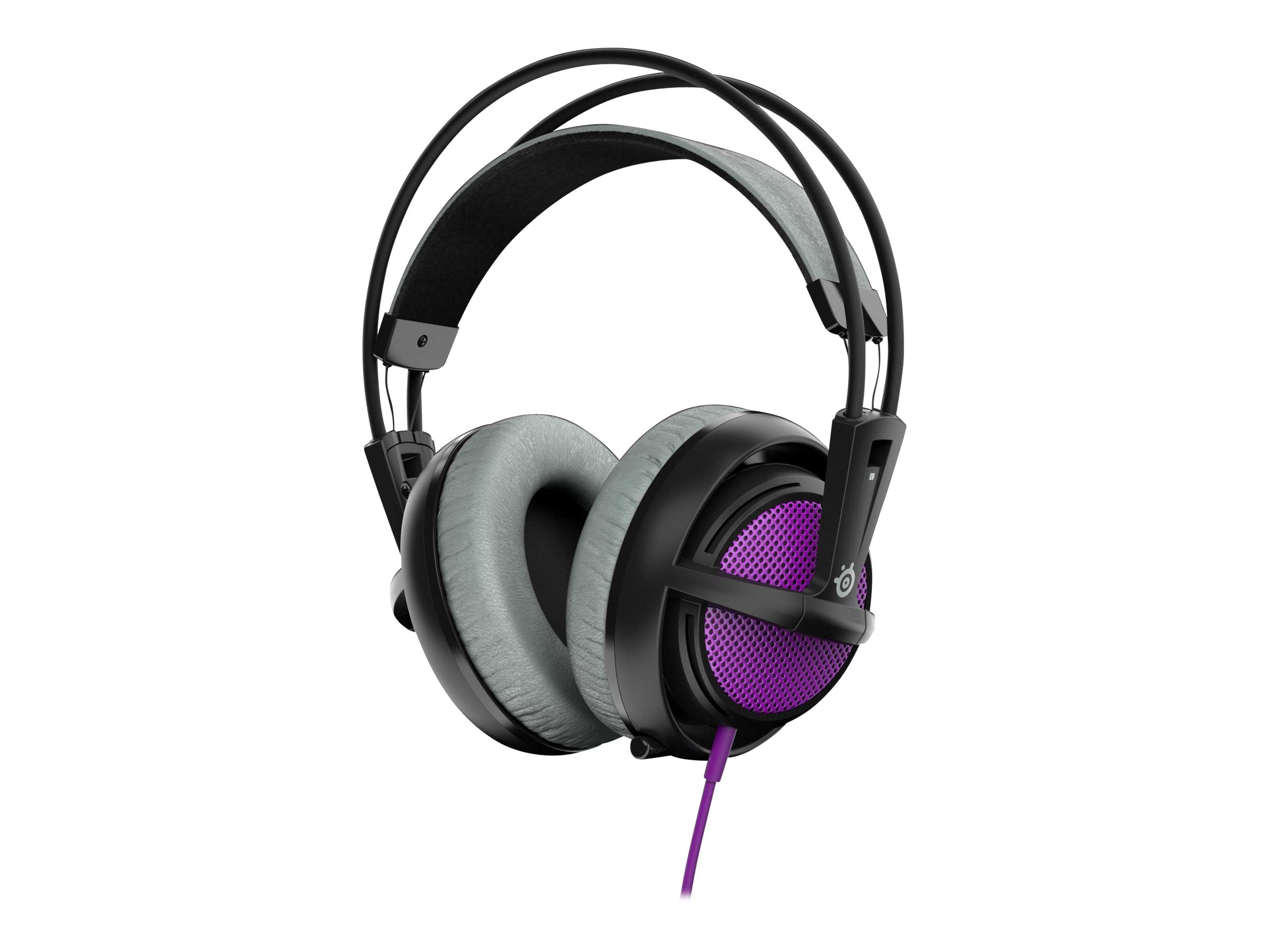Steelseries Siberia 200 Headset - Purple, 51136, 30806654, Headsets (w/ microphone)