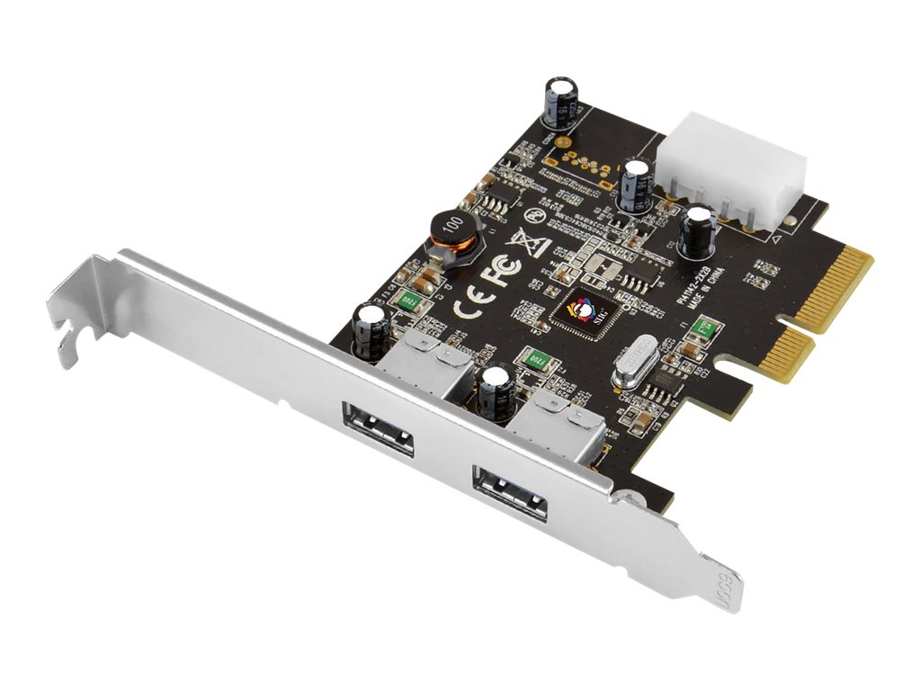 Siig USB 3.1 Type A 2-Port PCIe Host Adapter, JU-P20912-S1