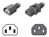 Server Technology Power Cord, IEC 320-C14 to IEC 320-C13, 1.5ft (457mm), 10A, 18AWG