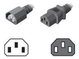 Server Technology Power Cord, IEC 320-C14 to IEC 320-C13, 1.5ft (457mm), 10A, 18AWG, CAB-1302C, 16148464, Power Cords